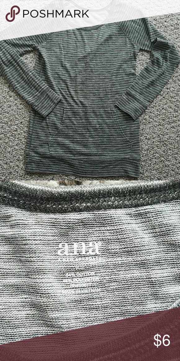 A.N.A Top Excellent used condition. Light weight long sleeve A.N.A Top with front pocket. Smoke and pet free home. a.n.a Tops Tees - Long Sleeve
