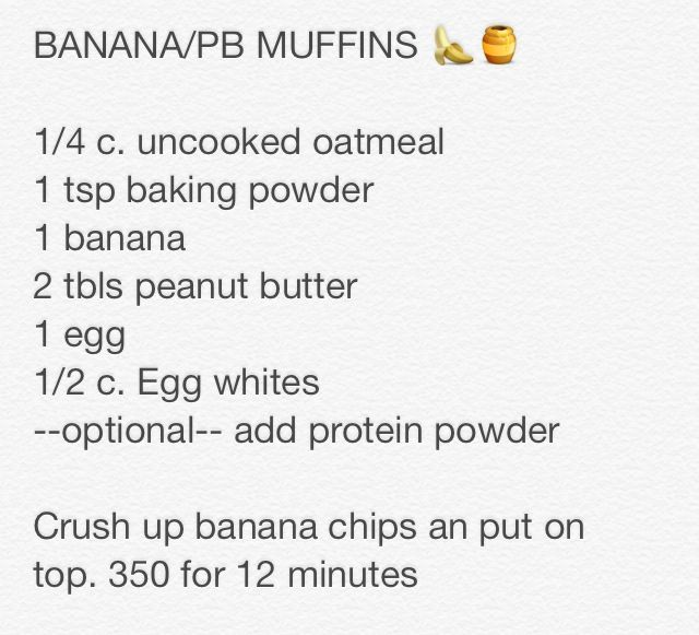 Bananapeanut butter muffin recipe (from Tess Christine on youtube)