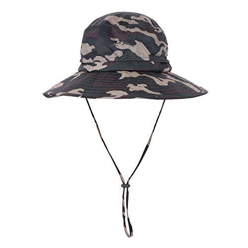 b151cfcce3b Anyoo Outdoor Boonie Hat Breathable Wide Brim Summer Sun Cap UV Protection  Fishing Camouflage Hat for