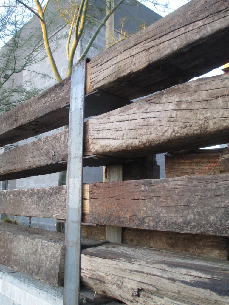 Railroad Tie Fence Railroad Ties Railway Sleepers Landscaping Retaining Walls