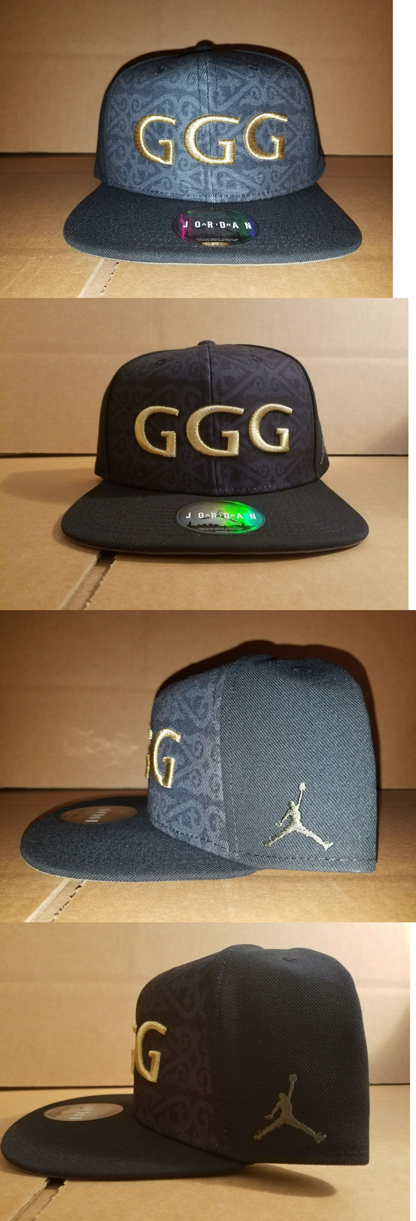 Hats 52365  Le Nike Air Jordan Gennady Golovkin Black Triple Ggg Snapback  Hat -  BUY IT NOW ONLY   100 on eBay! 542342e2e41b