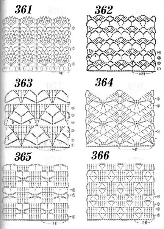 Crochet Stitch Chart Patterns 3 Nr 364 Crochet Stitches Chart Crochet Diagram Crochet Stitches Diagram