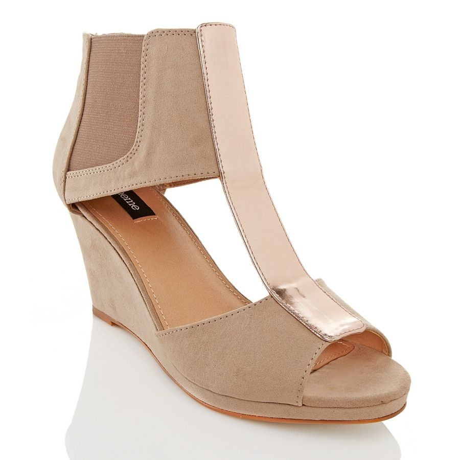 fb081713689 theme® T-Strap Wedge Sandal at HSN.com