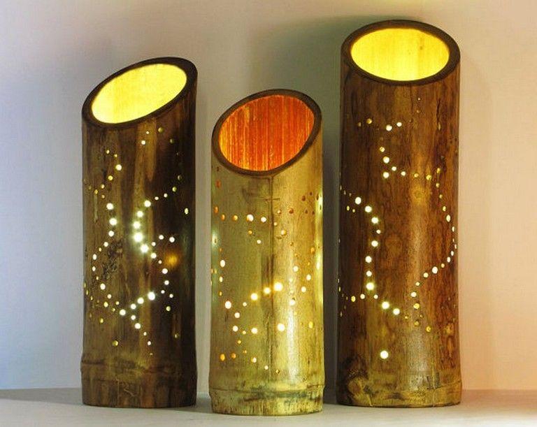 21 Amazing Diy Bamboo Table Lamp Designs To Beautify Your Room Diycrafts Diydesign Diydecorationideas Bamboo Lamp Lamp Bamboo Light