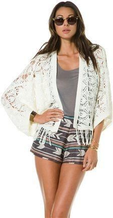 Roxy Crochet #cardigan #fashion