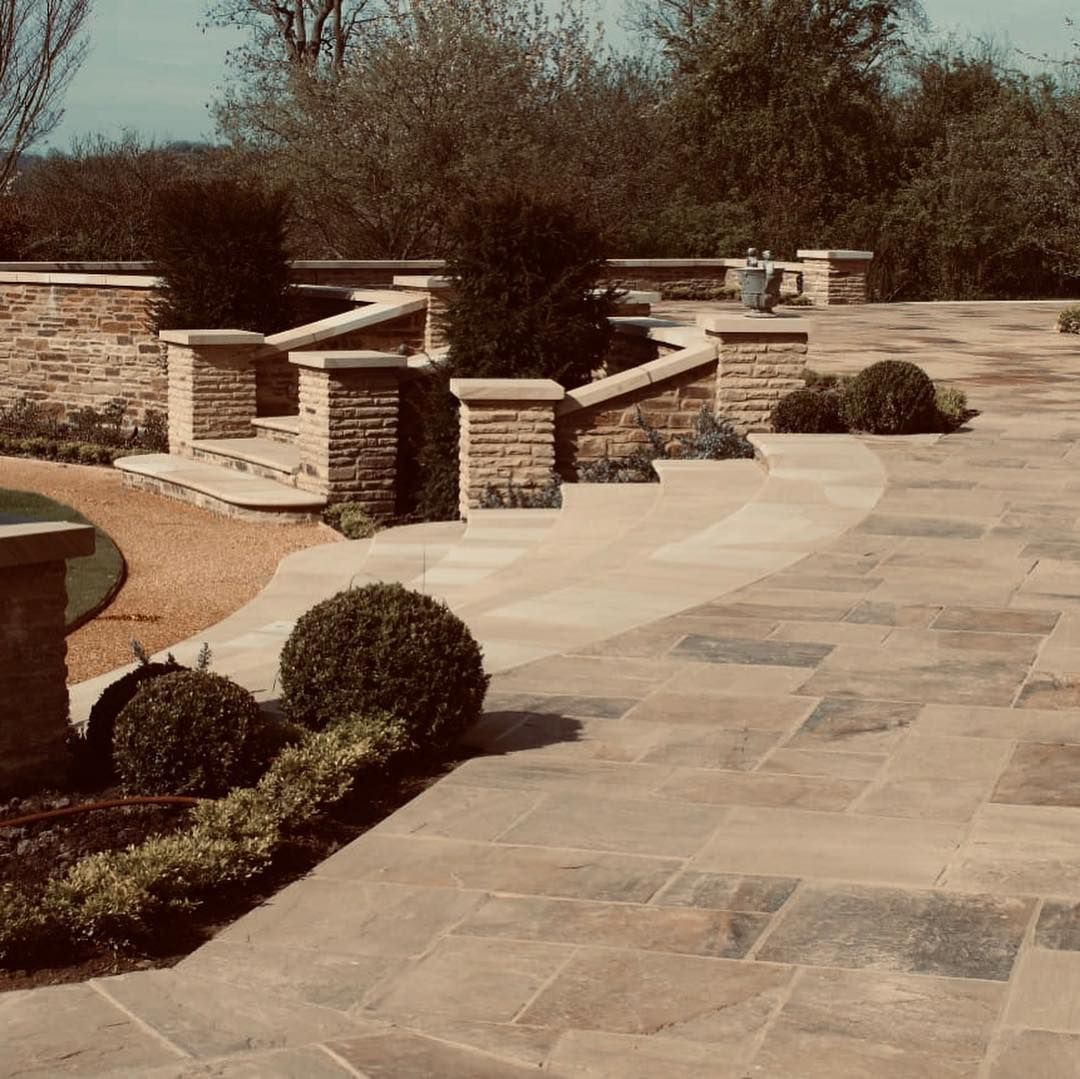 Garden Ideas. Natural Yorkstone Paving. Bronte Riven ...