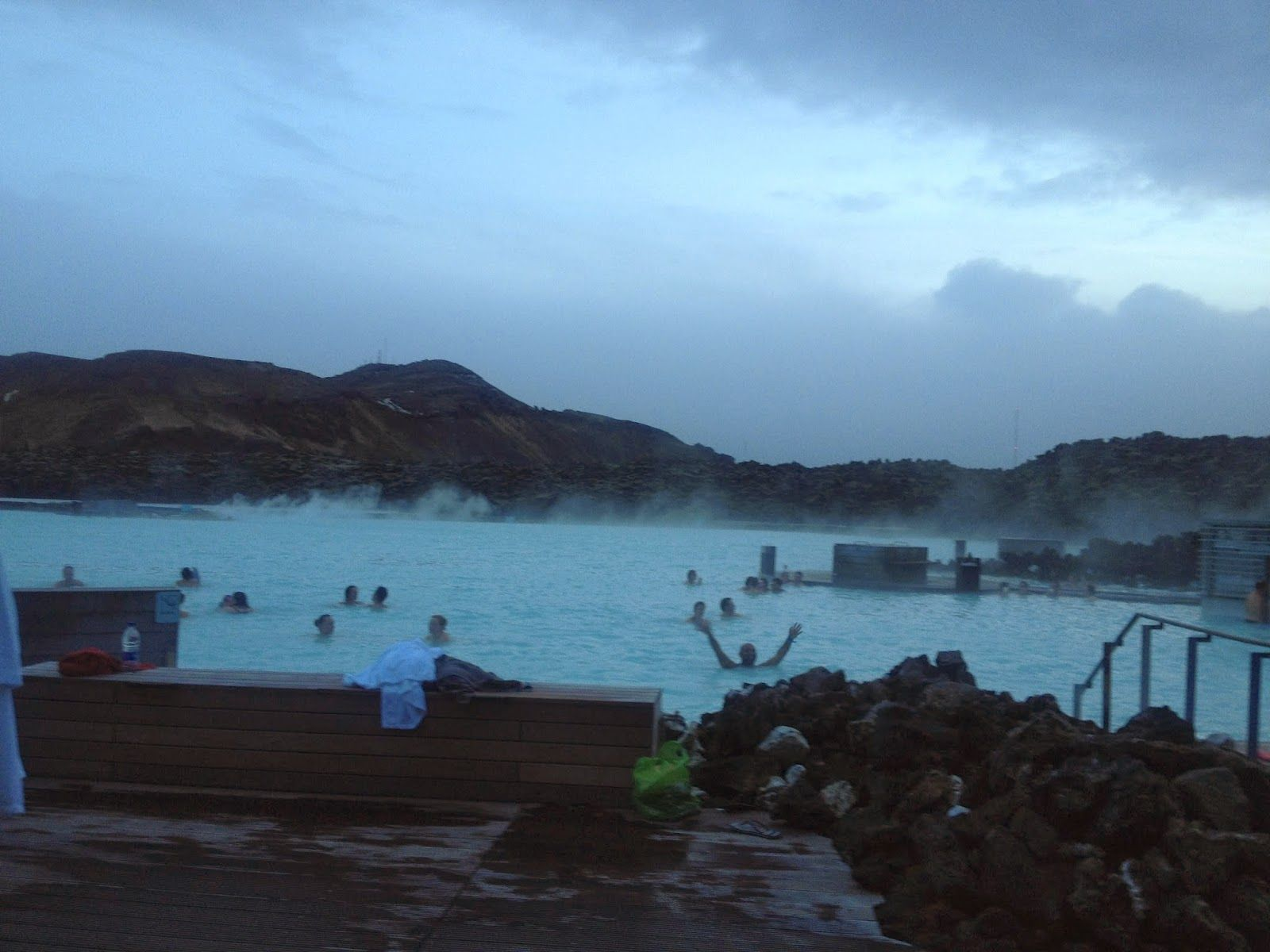 Natural Jacuzzi Iceland.An Outdoor Jacuzzi In The Form Of A Natural Spring The