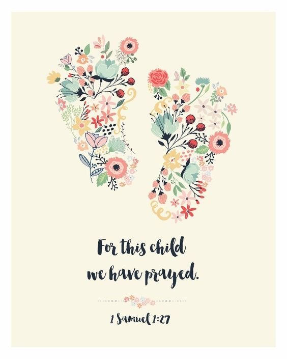 Spiritual Baby Shower Quotes: For This Child We Have Prayed