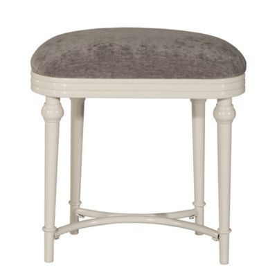 Incredible Hillsdale Hampton Vanity Stool In Grey Products Vanity Gmtry Best Dining Table And Chair Ideas Images Gmtryco