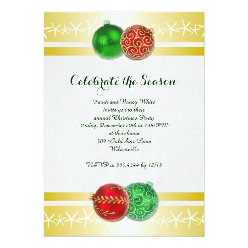 Festive Gold Tropical Holiday Party Invitations 2017 Christmas