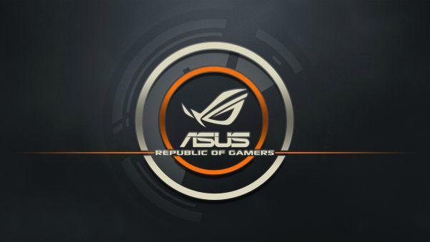 Wallpaper Asus Logo Republic Of Gamers Computer In 2019