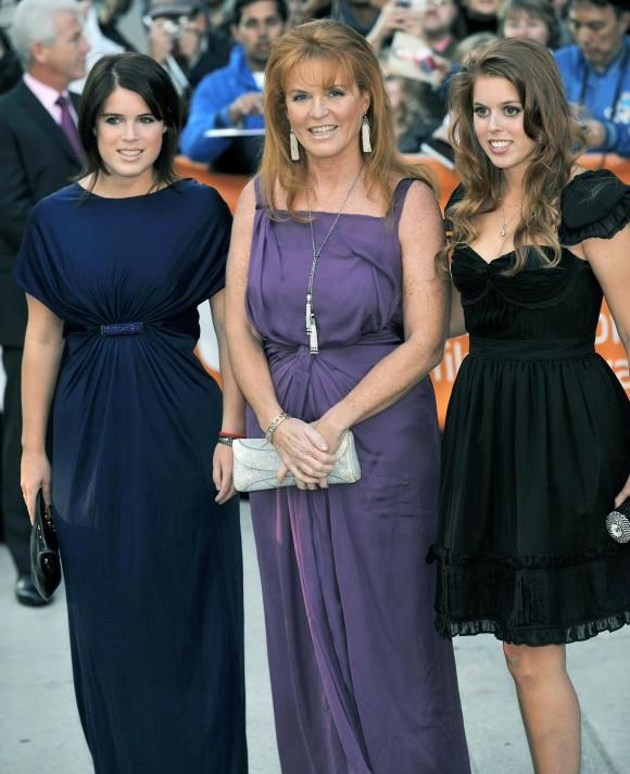 Princess Eugenie And Princess Beatrice With Mother Sarah