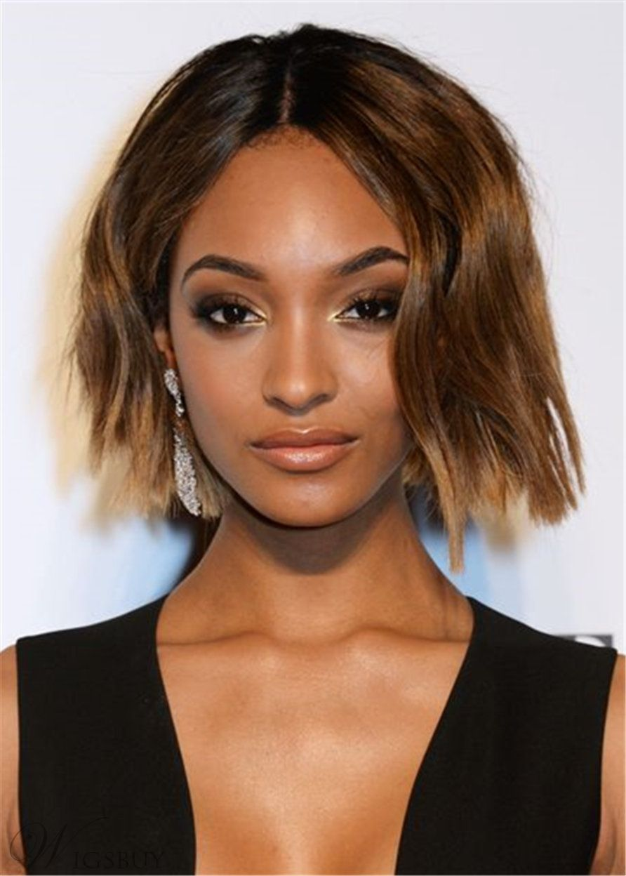 bob cut hairstyle synthetic wavy hair capless for african