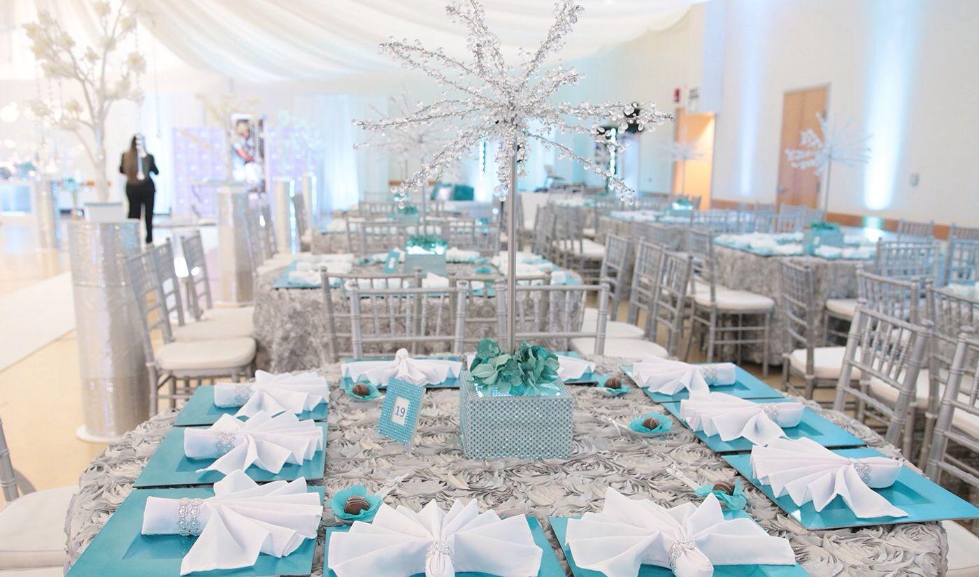 tiffany blue wedding decor #tiffany #blue #silver #wedding