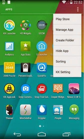 KK Launcher Prime (KitKat Launcher) V4.1 Apk Download