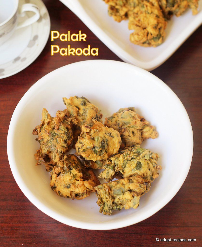 Palak Pakoda Spinach Pakoda Recipe Indian soup