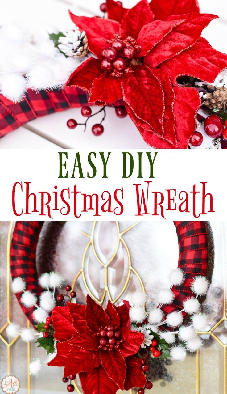 How to Make an Easy DIY Christmas Wreath Easy christmas