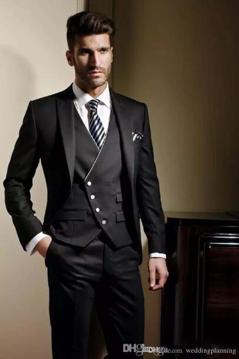 Custom Made Groom Tuxedos Formal suit Wedding suit for men Jacket+ ...