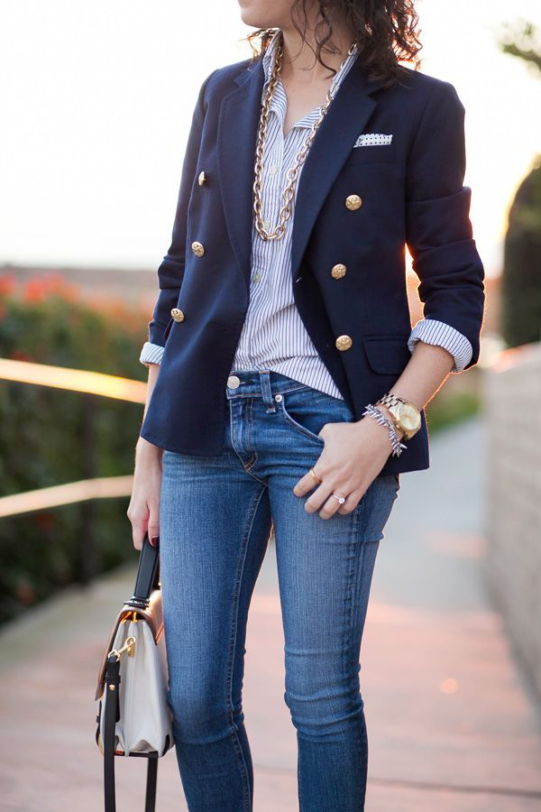 double breasted blazer with jeans Adventure: Put