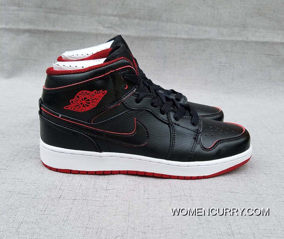 "Lance Mountain"" Air Jordan 1 GS Mid Black Black-White-Gym Red ... 8c7ba5460"