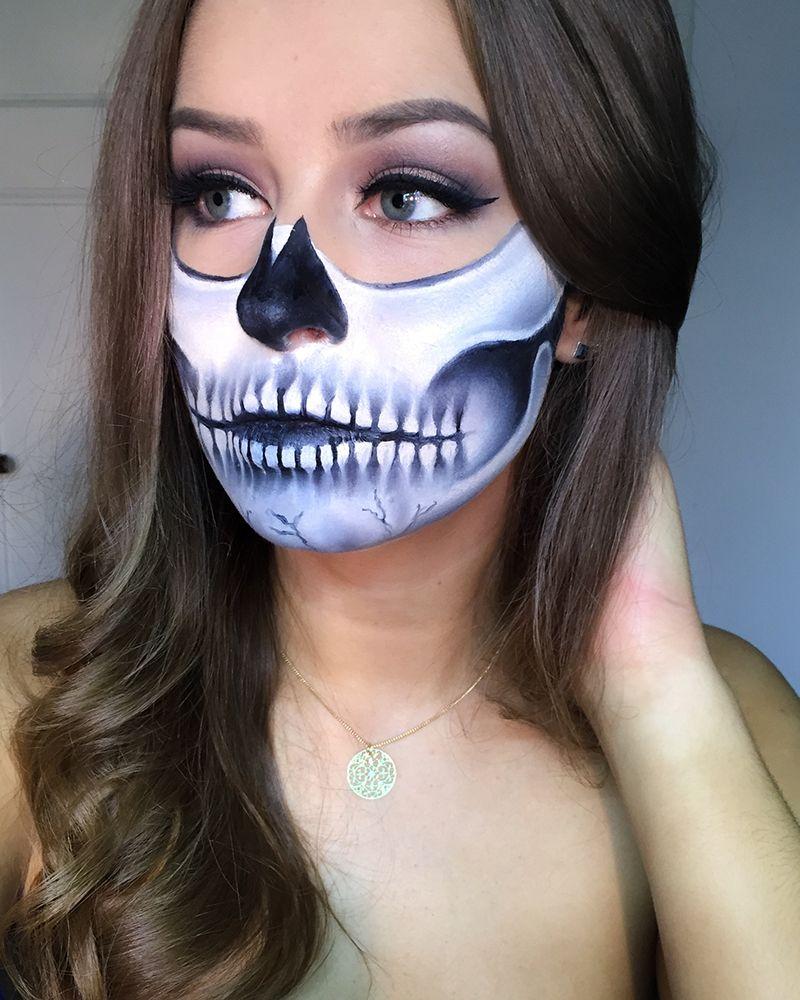 Makeup halloween half face catalog photo
