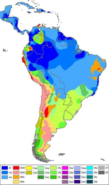 Weather/Climate South & Central America | Heritage | Pinterest