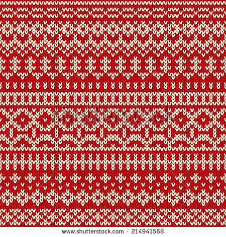 Christmas knitted seamless pattern in traditional Fair Isle style ...