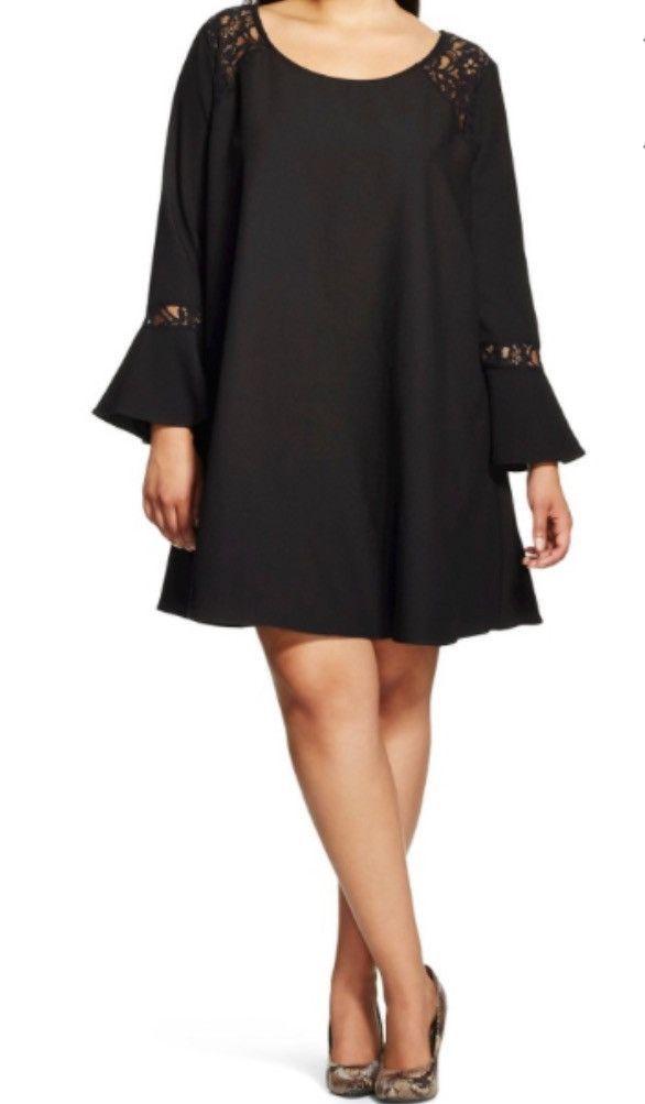 Black dress w/ lace inserts