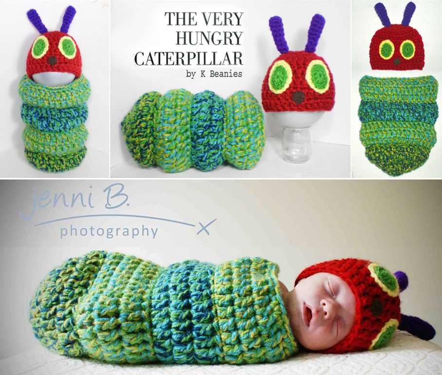 Hungry Caterpillar Crochet Pattern Ideas Babies, Crochet and Crochet baby