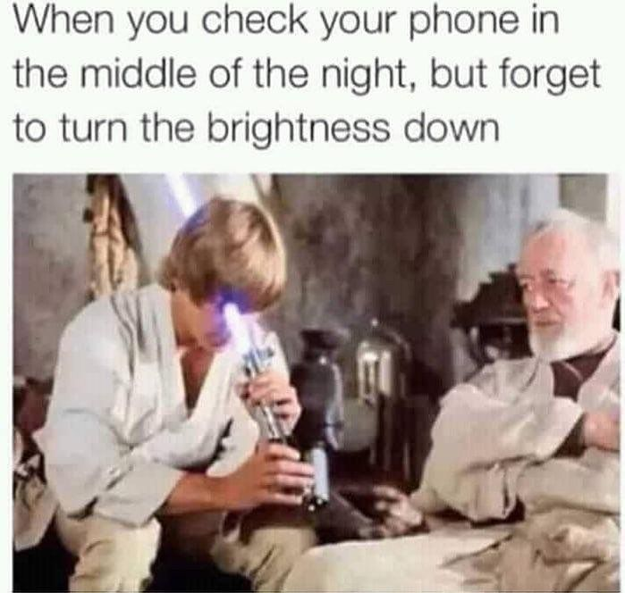 Lightsaber In The Eye Couldn T Have Described It Any Better Funny Star Wars Memes Star Wars Jokes Star Wars Humor