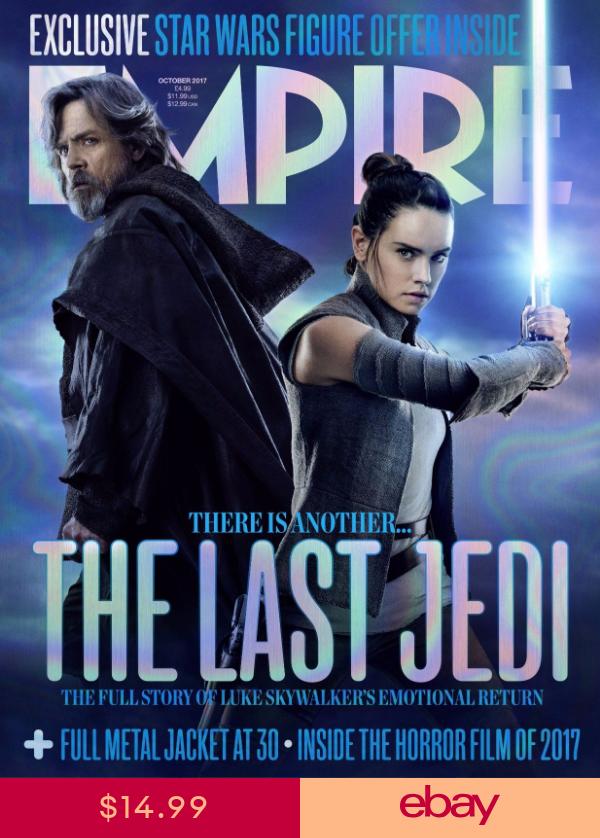 Star Wars The Last Jedi Empire Magazine Poster Luke Skywalker Rey Mark Hamill New Star Wars Star Wars Film Star Wars Books