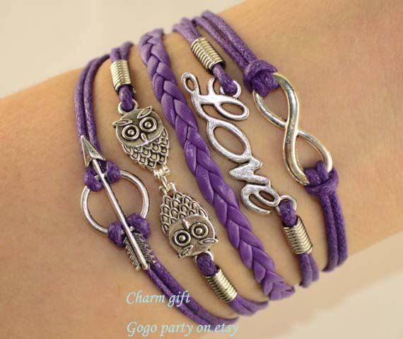 Infinity braceletowl bracelet anchor bracelet Charm by Gogoparty, $5.99