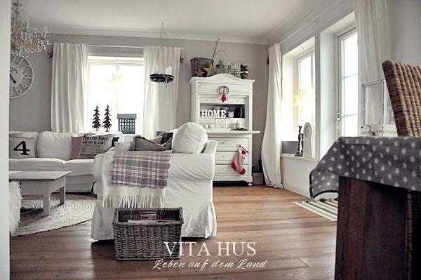Schwedenhaus inneneinrichtung modern  Adventszeit | Vita Hus Wohnzimmer | Pinterest | Renovierung ...