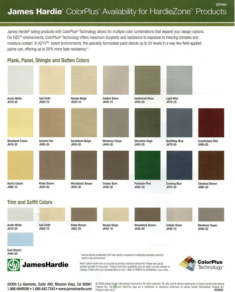Hardie Siding Colors - Google Search