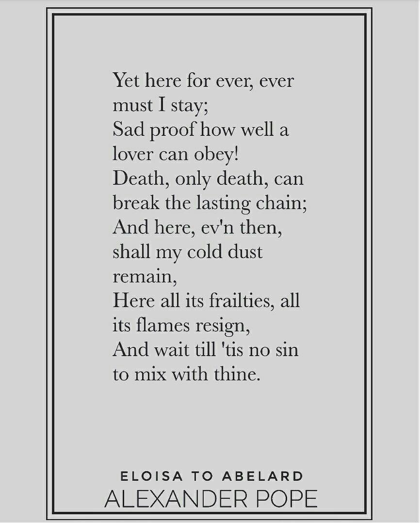 The Poems of Alexander Pope - Eloisa to Abelard