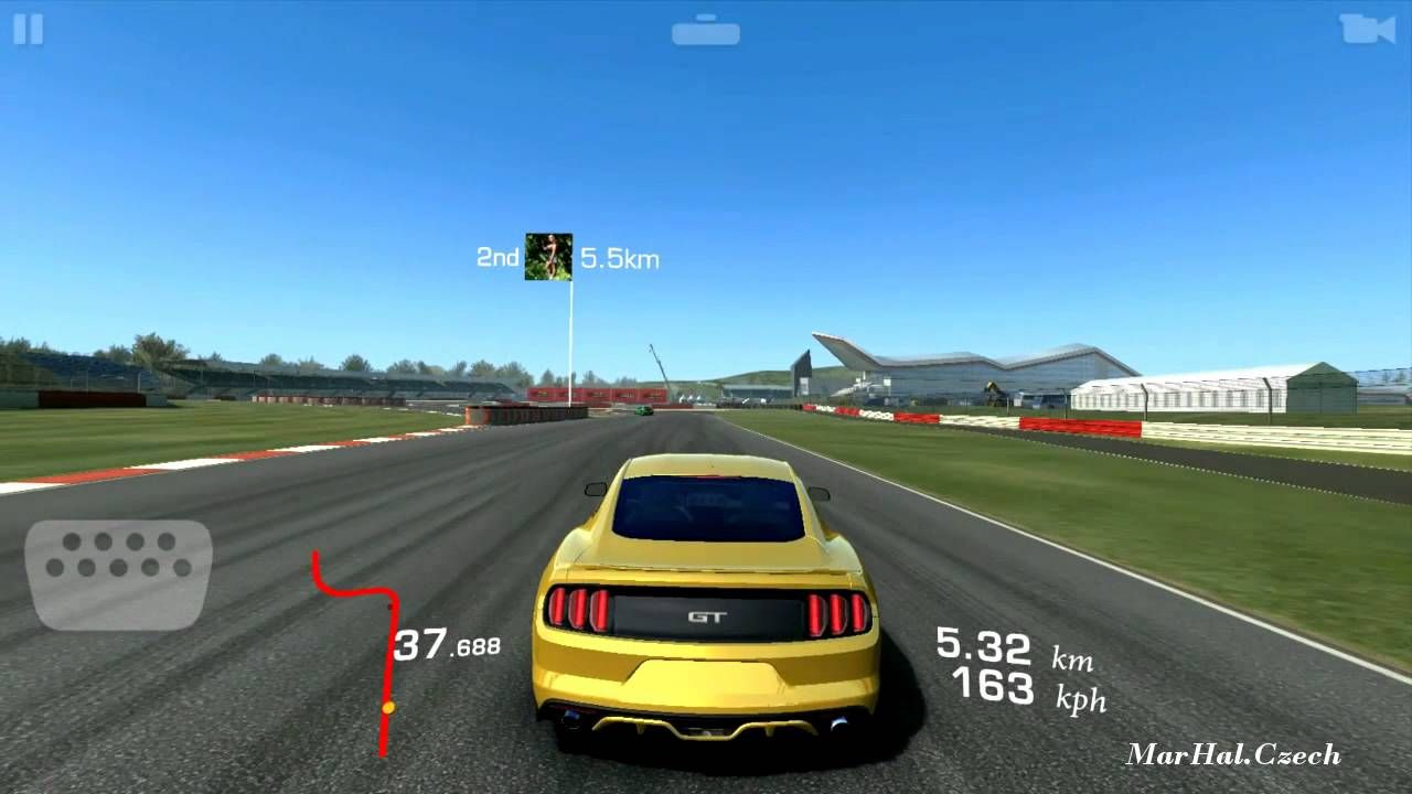 Ford mustang gt premium gold silverstone real racing 3 android gam