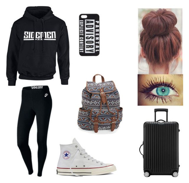 """Untitled #52"" by cassadyhopegann on Polyvore featuring Converse, NIKE, Aéropostale, UNIF and Rimowa"