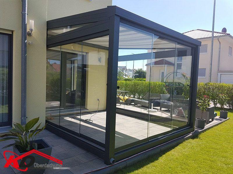 Mini Dach Mit Glas Seitenwand Terrassenuberdachung Balkonuberdachung Carports