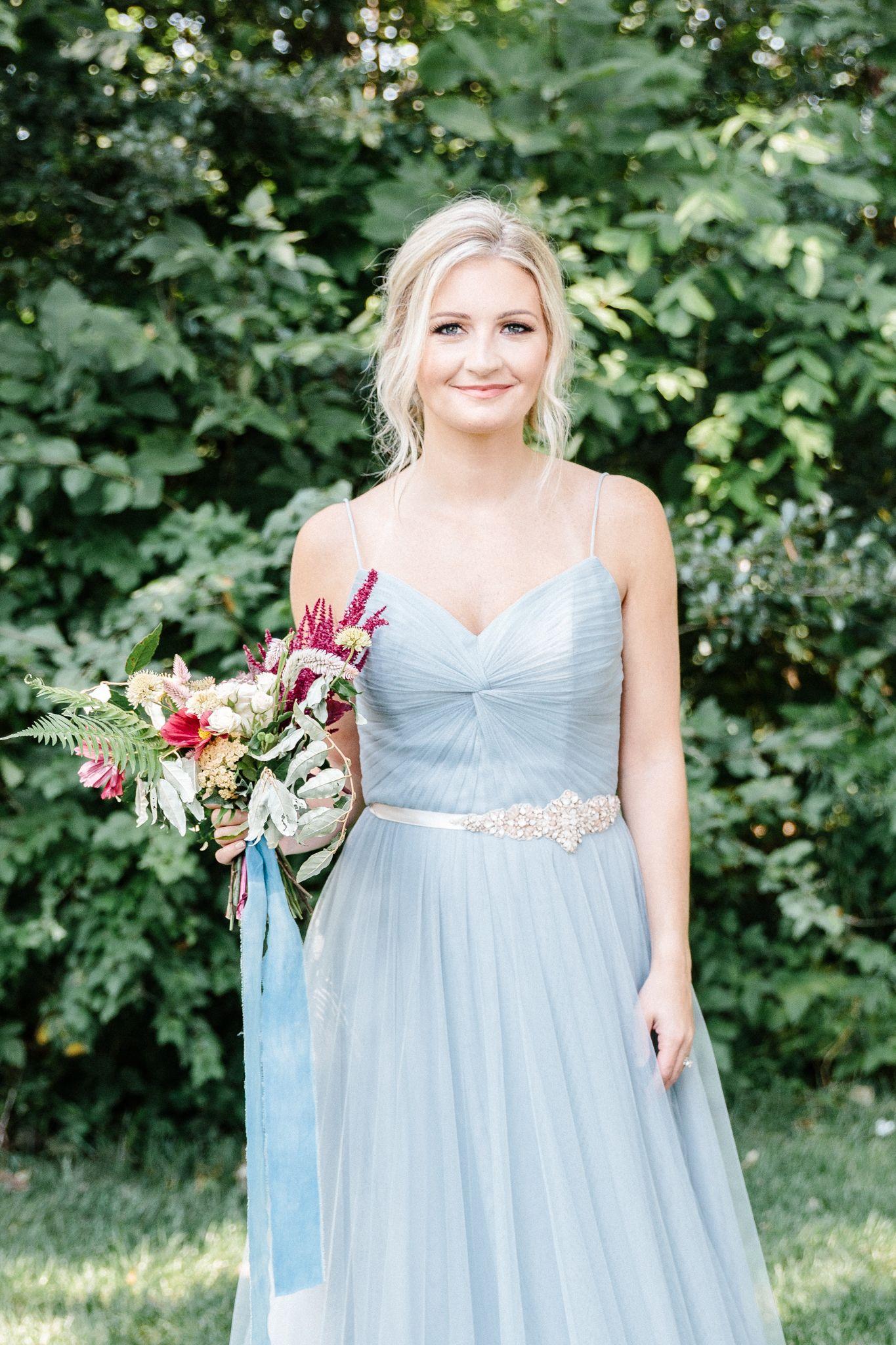 Organic Sunset Styled Wedding Shoot. Dusty Blue Fall
