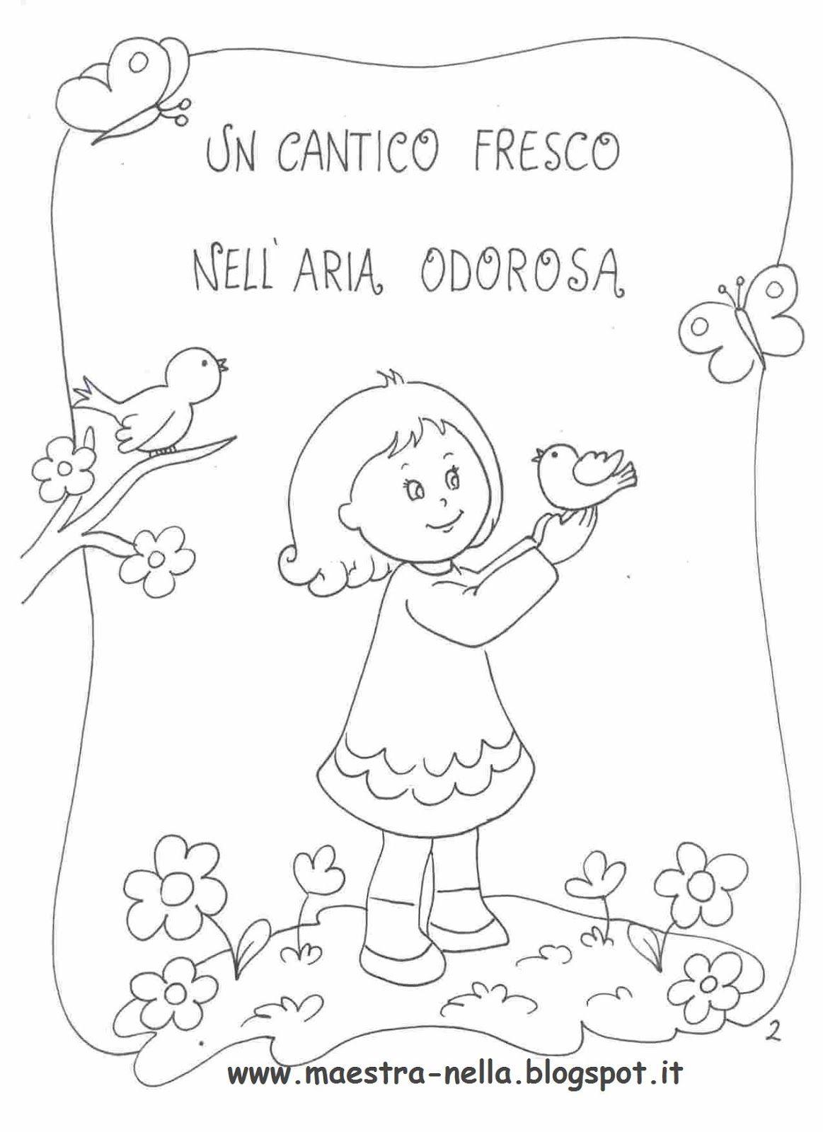 Maestra Nella Primavera Poesia Illustrata Primavera Libritos