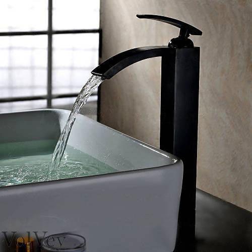 Yannlii Oil Rubbed Bronze Waterfall Bathroom Sink Faucet ORB Vessel Faucet  Centerset Widespread Modern ORB Single Handle Single Hole Faucets Sprayer. 12  Oil Rubbed Bronze Waterfall Bathroom Sink Faucet Vessel One