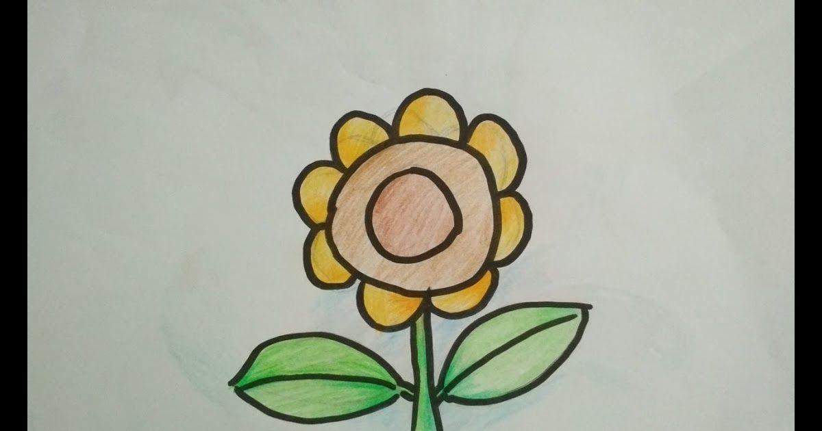 Gambar Bunga Matahari Dari Pensil Sangat Mudah Cara Menggambar Bunga Matahari Dengan Pensi Menggambar Bunga Matahari Cara Menggambar Menggambar Dengan Pensil