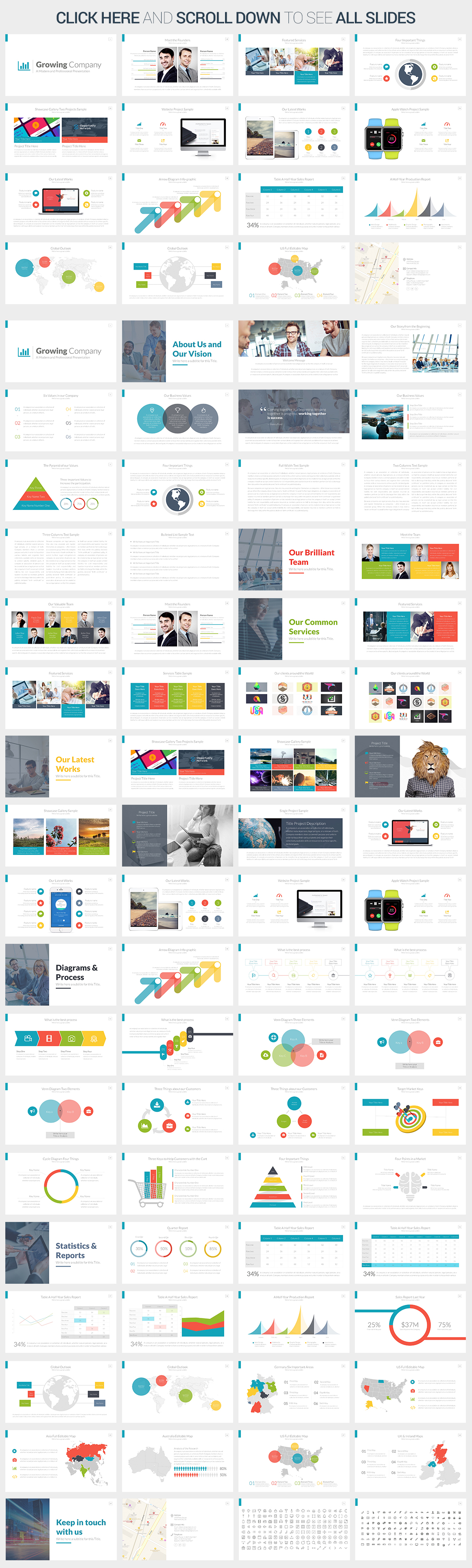 Growing Company Powerpoint Template By Slidepro On Creative Market