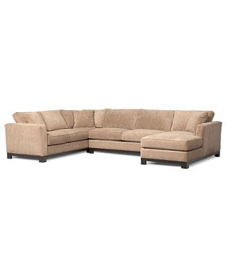 138 inches or 11 5 feet kenton fabric 3 piece chaise sectional sofa couch pinterest. Black Bedroom Furniture Sets. Home Design Ideas
