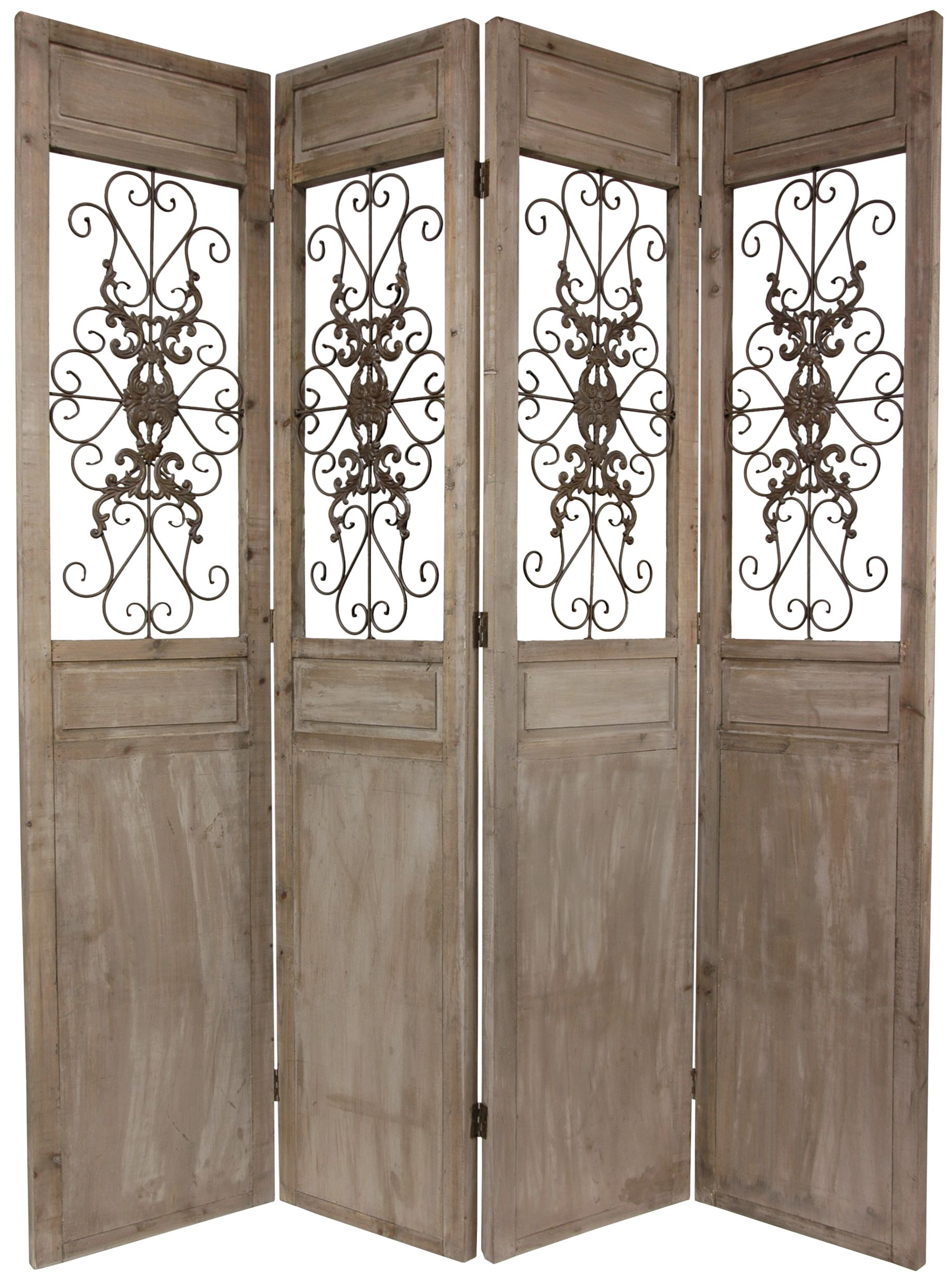 7 Ft Tall Railing Scrolls Room Divider In 2019 Wooden