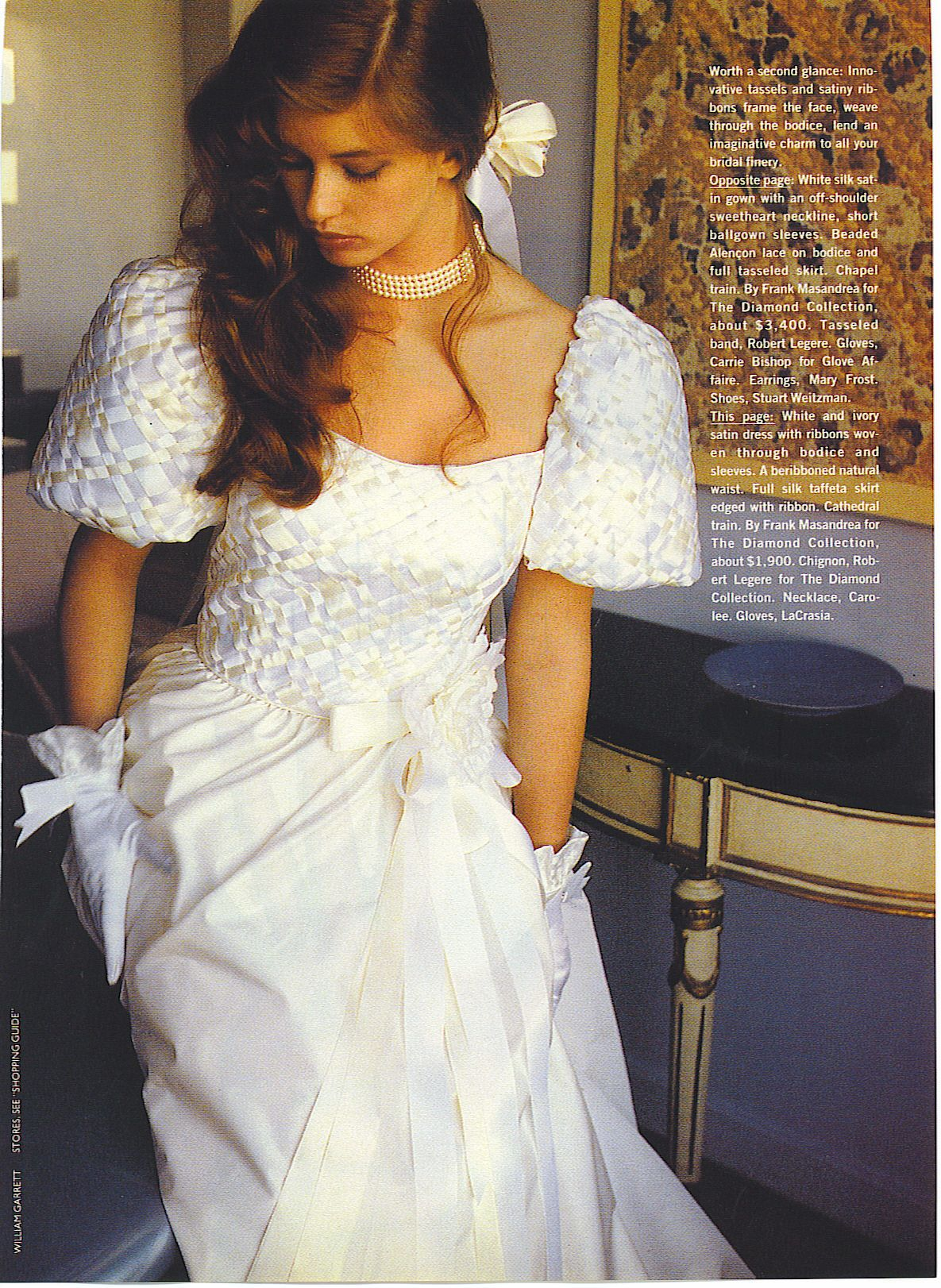 Bride in a 90\'s vintage wedding gown from a magazine. | 80\'S AND ...