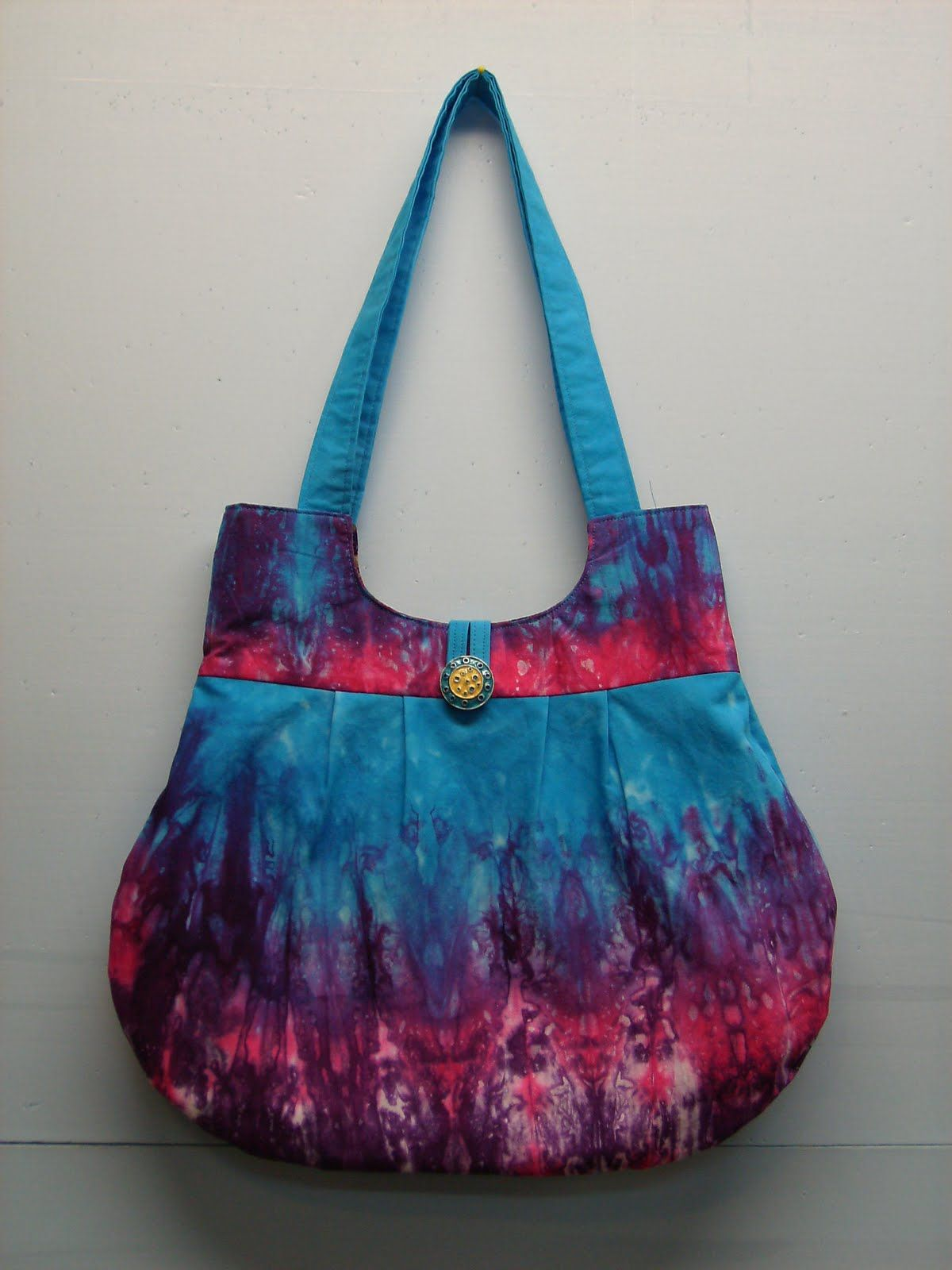 Free Fabric Handbag Patterns Of The Hand Dyed I Recently Made To Make A New Purse This