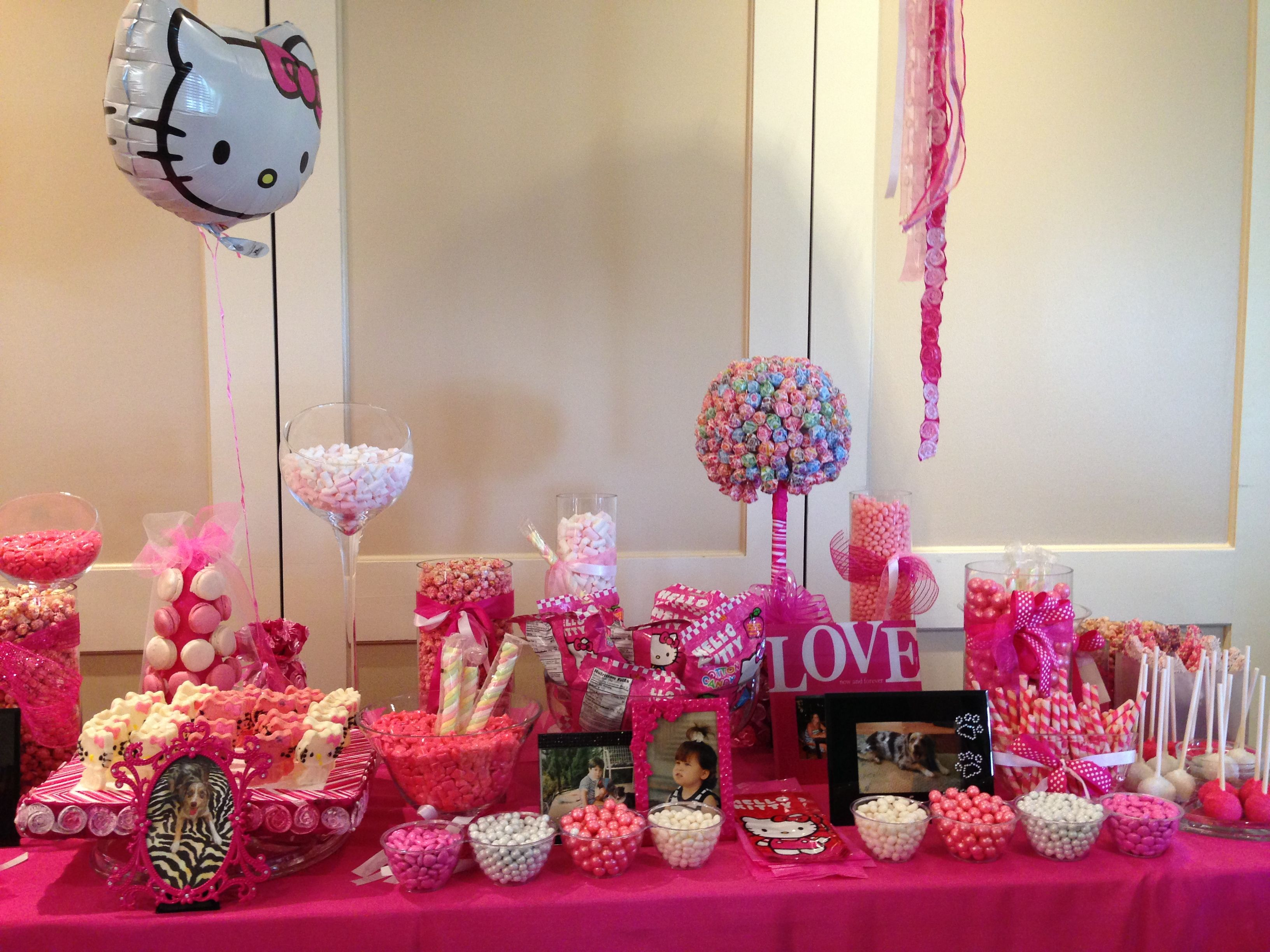 Hello Kitty Bridal Shower Candy Bar Showering The Bride Bridal