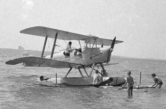 De Havilland Tiger Moth with floats | Flugzeug