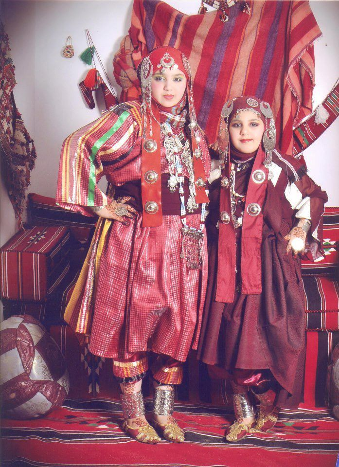 Lybian Girls Traditional Outfits African Women Girl Costumes